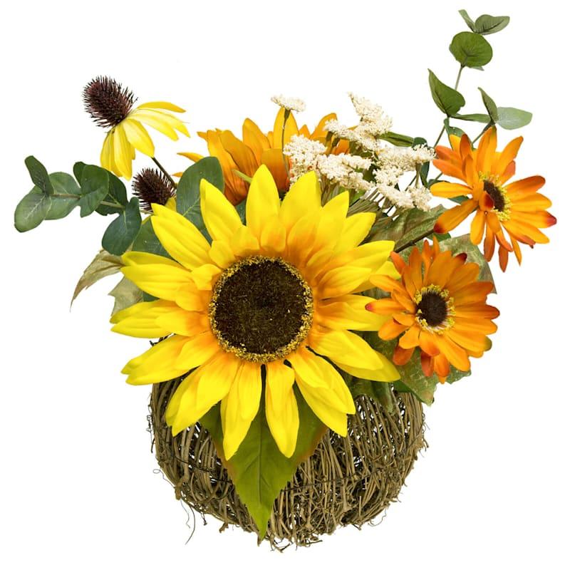 Sunflower/Daisy Lace in Pumpkin- 15-in