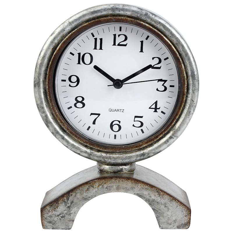 5X7 Resin Grey Table Clock
