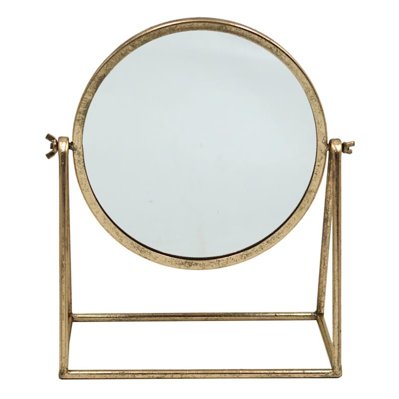 Gold Metal Table Mirror