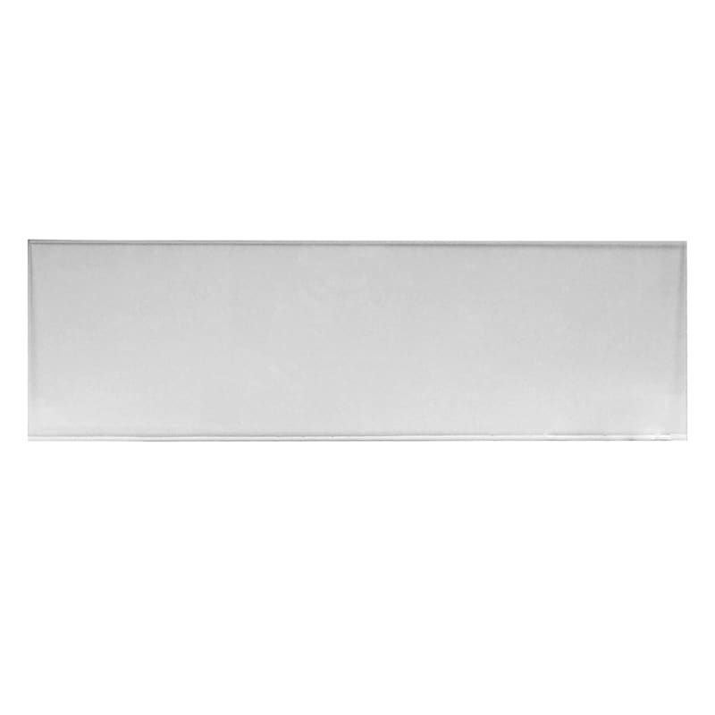 Rectangle Clear Tempered Glass Table Top With Beveled Edge 16in. X 52in.