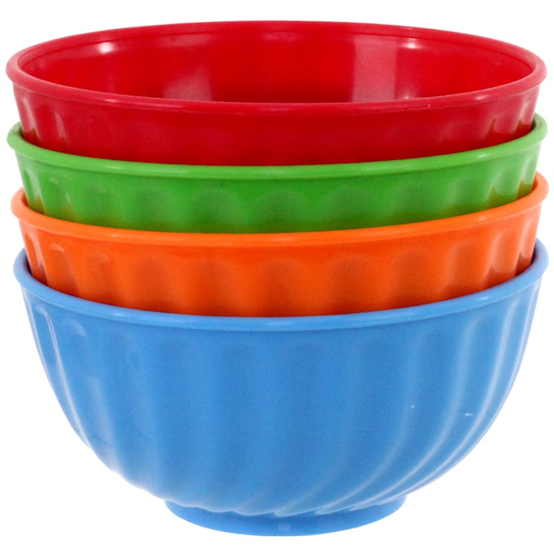 Set Of 4 Bowls 2 Cup Capacity Assorted Colors