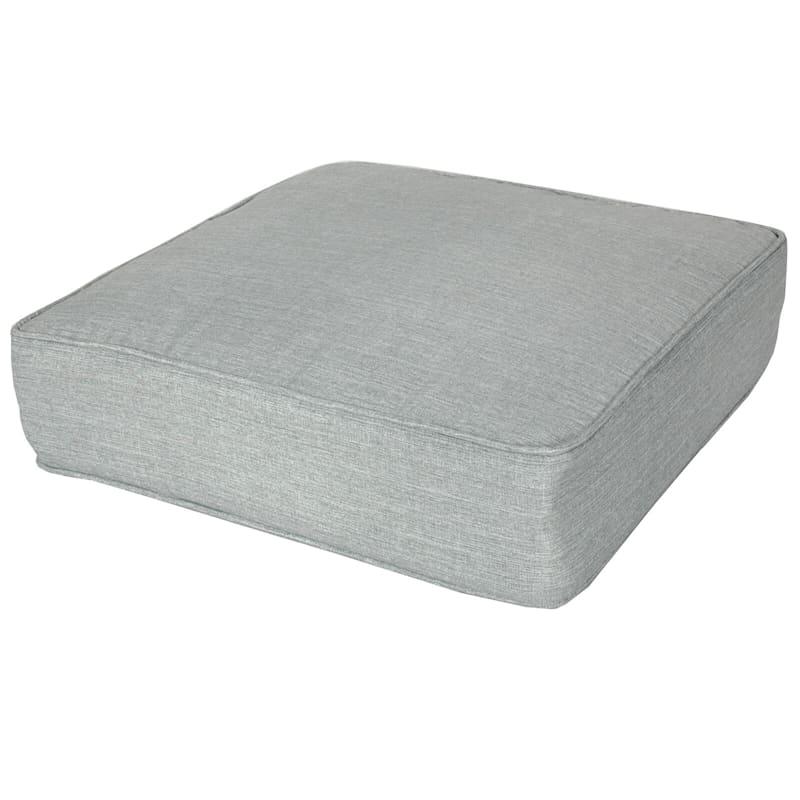 Tahiti Silver Outdoor Gusseted Short Back Cushion