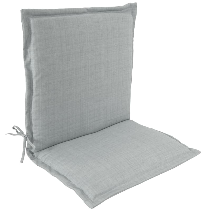 Tahiti Silver Outdoor Chair Cushion With Flange