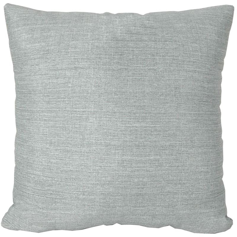 "Tahiti Silver Outdoor Square Pillow, 20"""