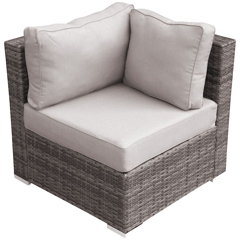 Weston II Corner Wicker Chair & Cushion