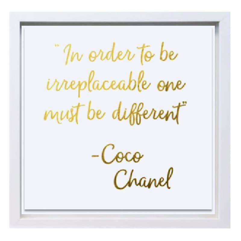 13X13 Different Chanel Typography Under Glass Art