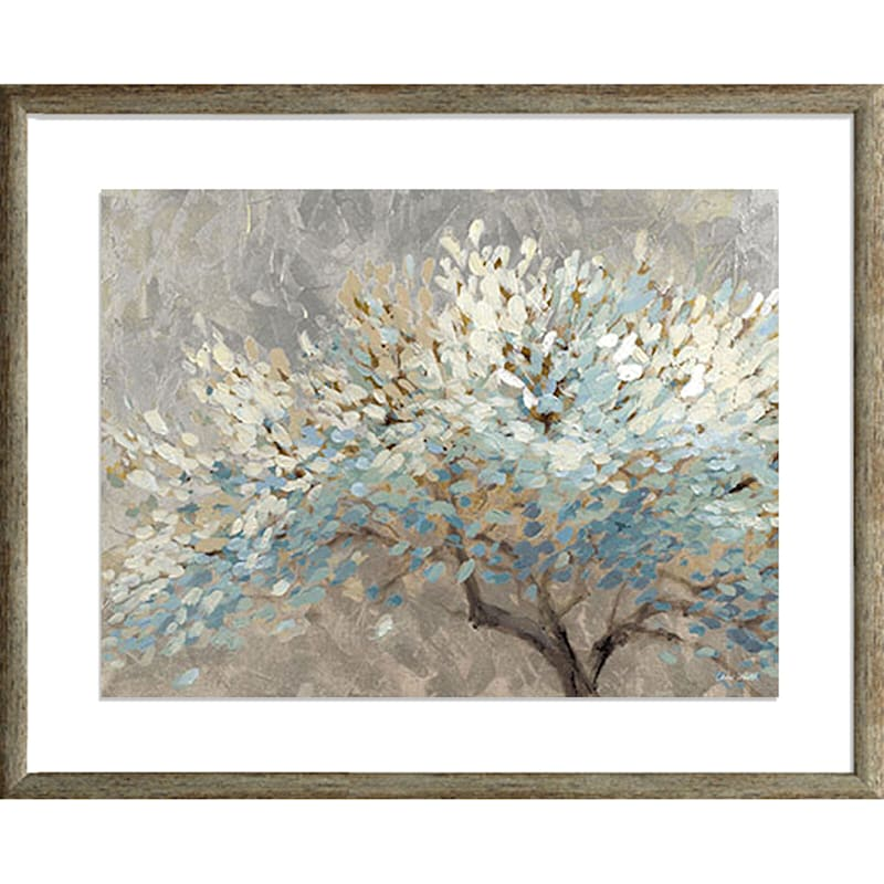 21X17 Tree Landscape Under Glass Art