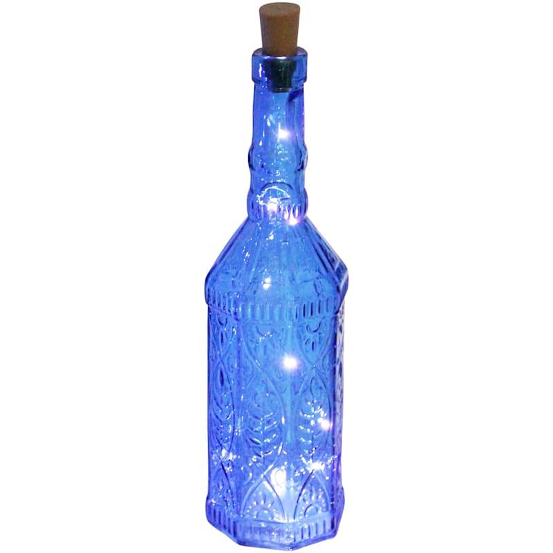 Blue Led Light Up Bottle 3X13