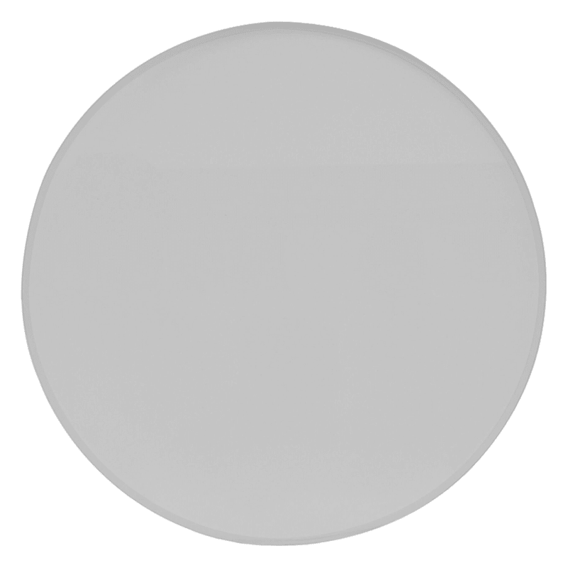 """Round Clear Tempered Glass Table Top With Beveled Edge, 18"""""""
