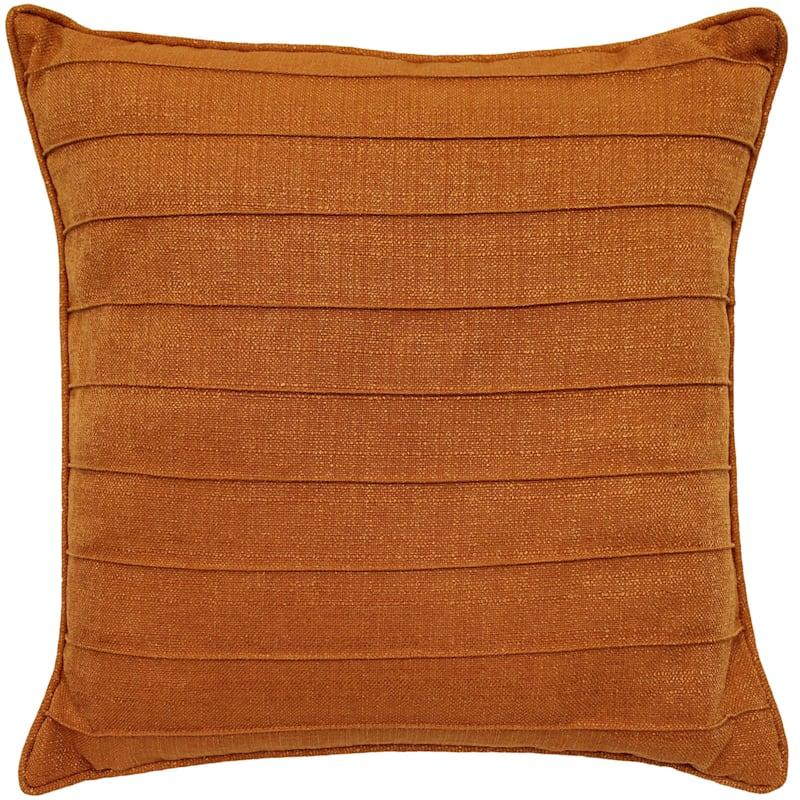 Dynasty Tangerine Pintuck Pillow 20X20