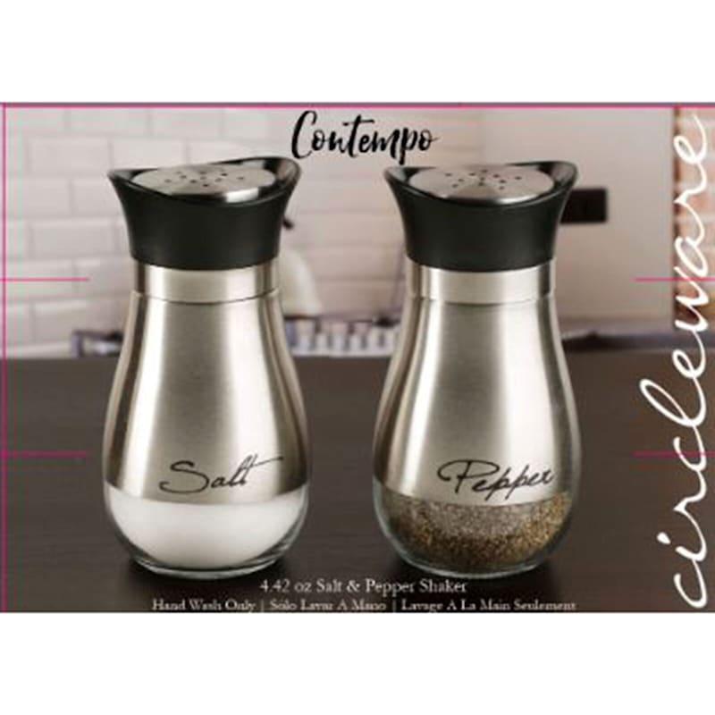 Contempo Silver Salt/Pepper Shakers