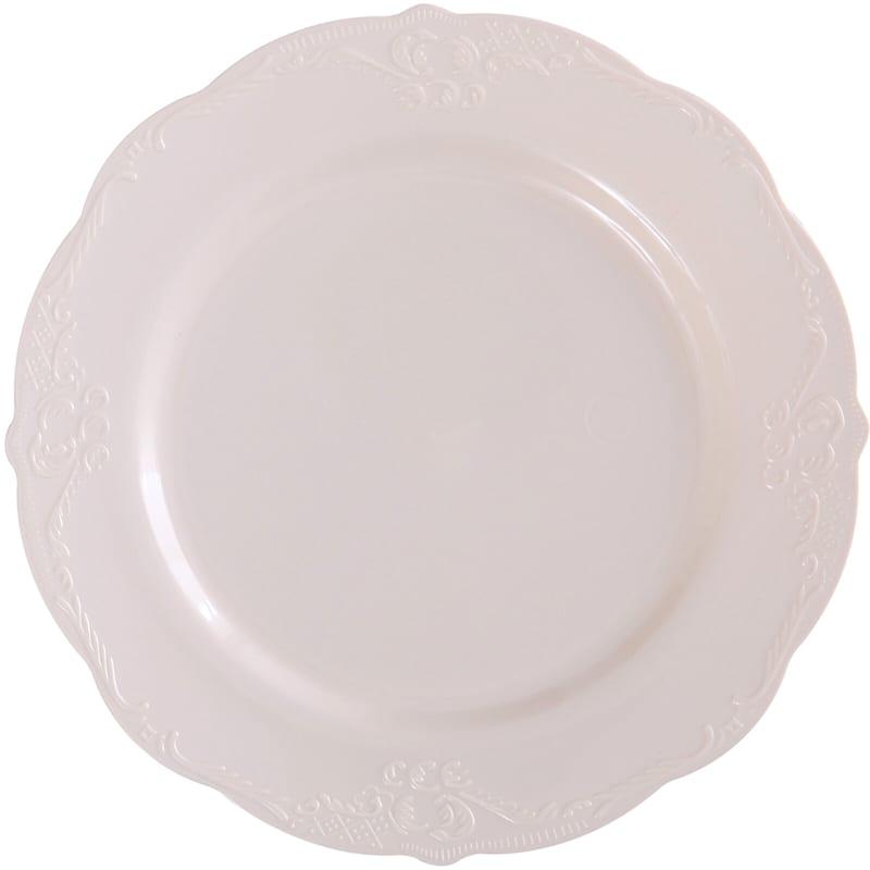 10in. Vintage Cream Plate Set Of 10