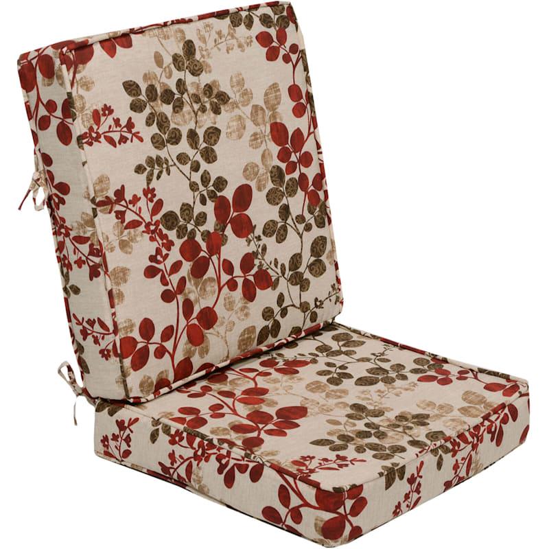 Cabrera Sangria Outdoor Deep Seat 2-Piece Cushion