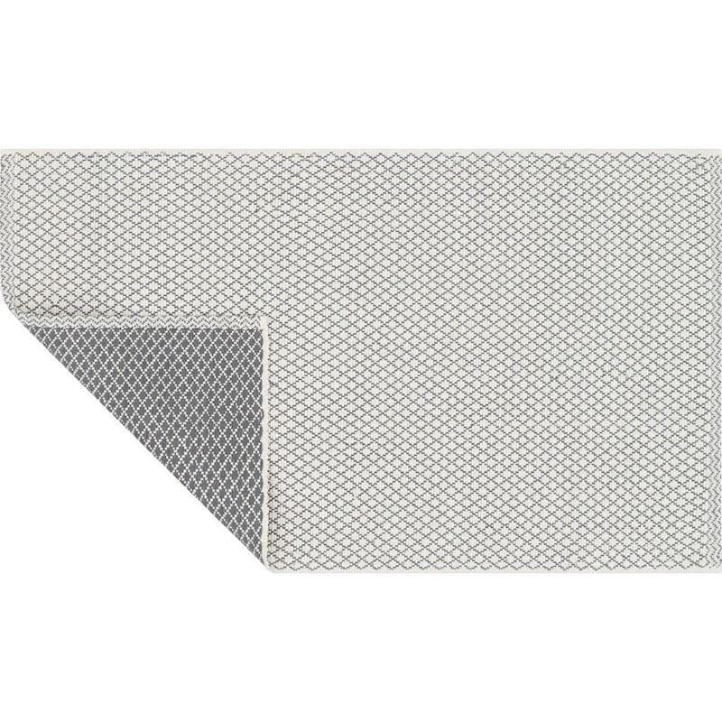 Jarvi Gunmetal Grey Cotton Accent Rug, 2x4