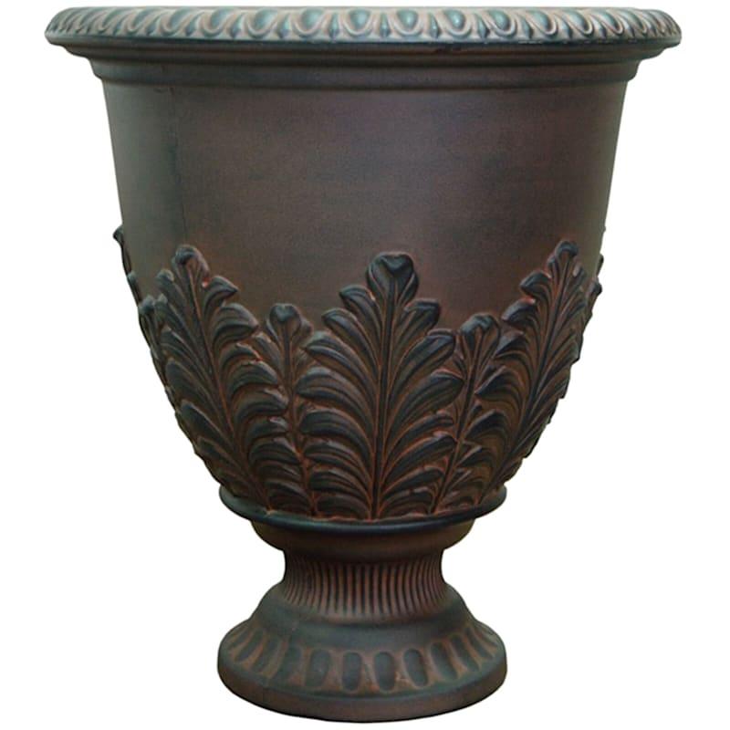 Acanthus Urn 17in. Decorative Planter Rust