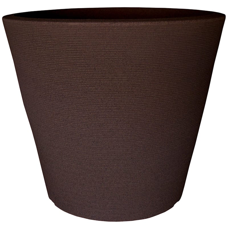 26.5X30.7 All Weather Proof Polyresin Linea Low/Planter Coffee