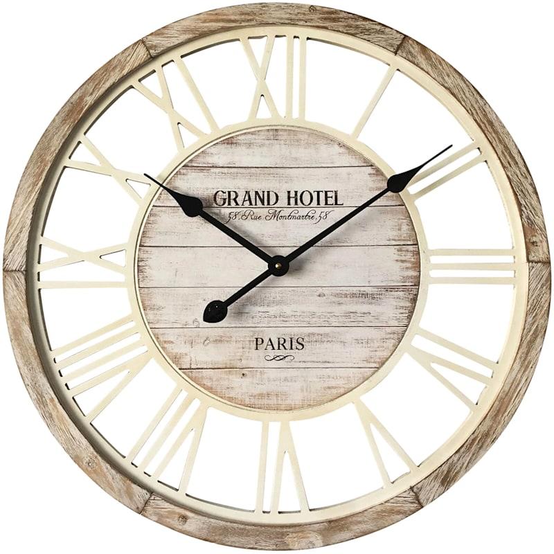 23In Round Wood Clock