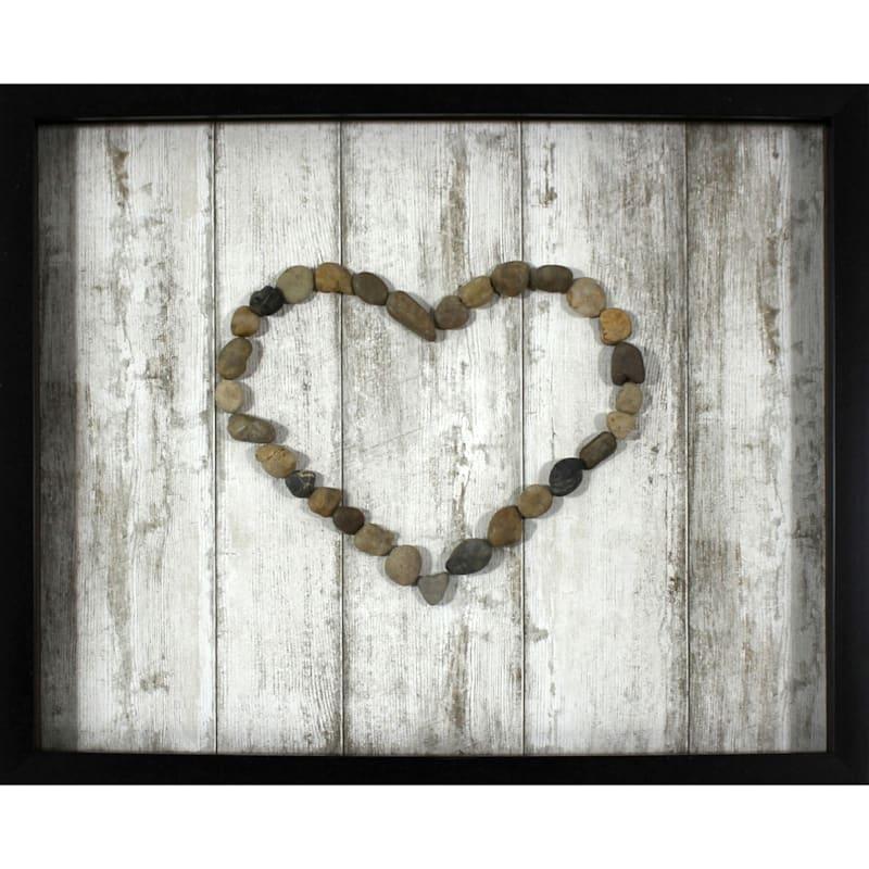 16X20 Heart Rocks Framed/Glass