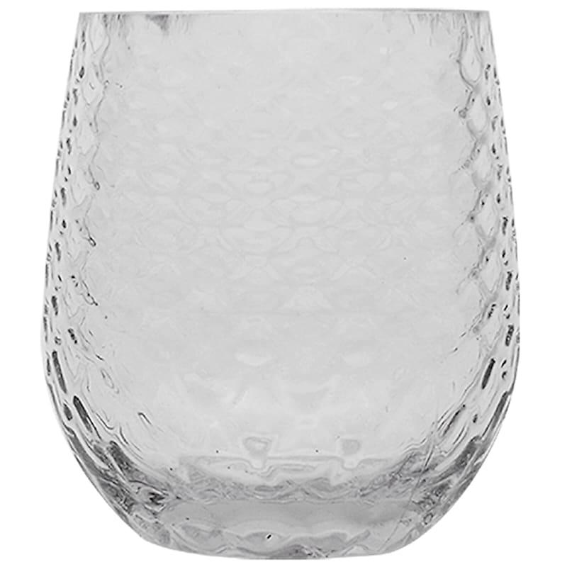 Acrylic Stemless Clear Wine Glass