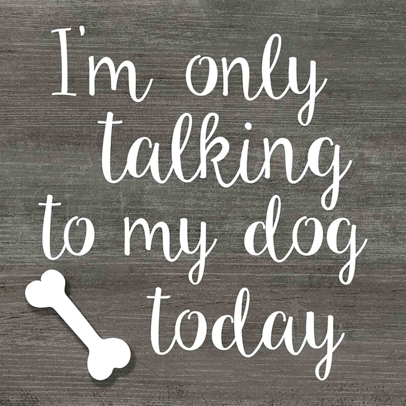 8X8 Im Only Talking To My Dog Today Art On Wood Box
