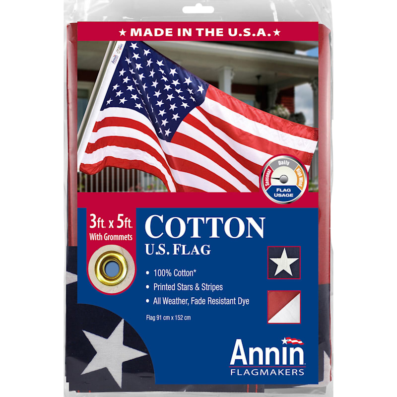 3X5ft. Polycotton USA Flag/Grommets