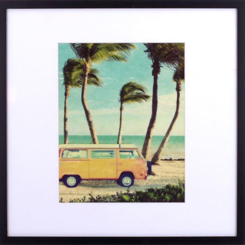 21X21 Breezy Beach Days Framed Art