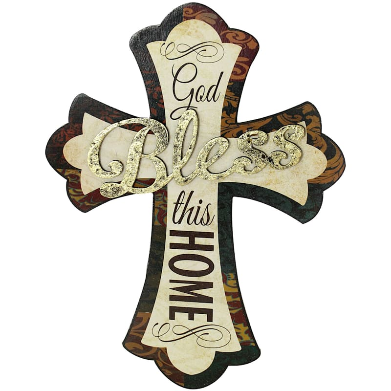 9X12 Bless Cross Die Cut Plaque