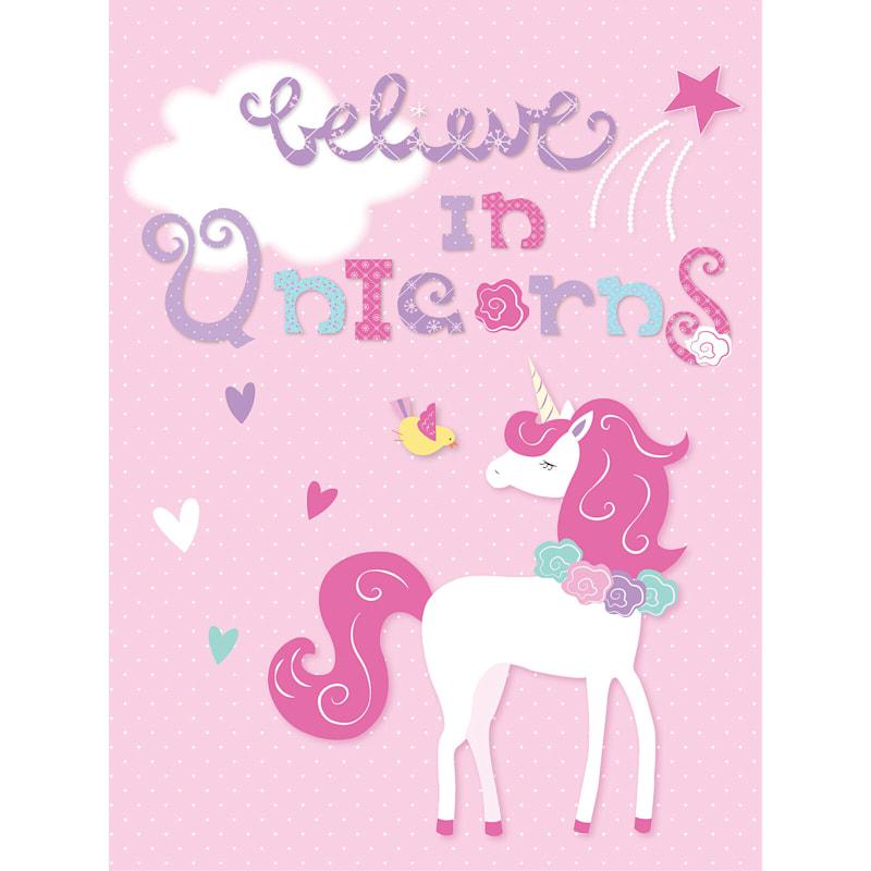 24X30 Believe In Unicorns Canvas Wall Art