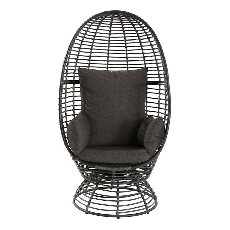 Foster Swivel Wicker Outdoor Egg Chair