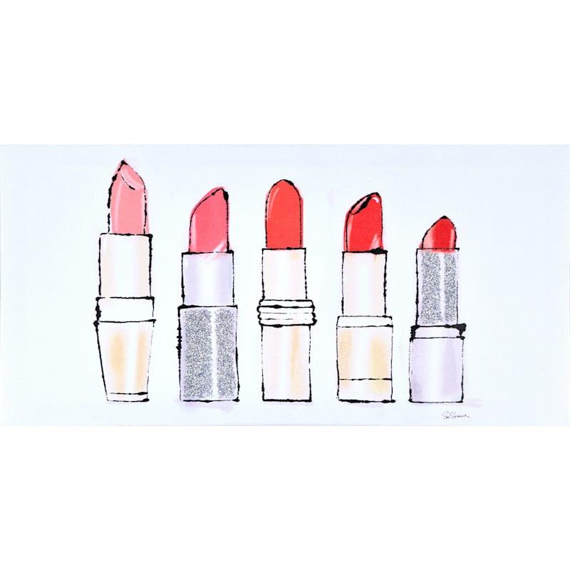 16X8 Beauty And Sass Red II Glitter Canvas Art