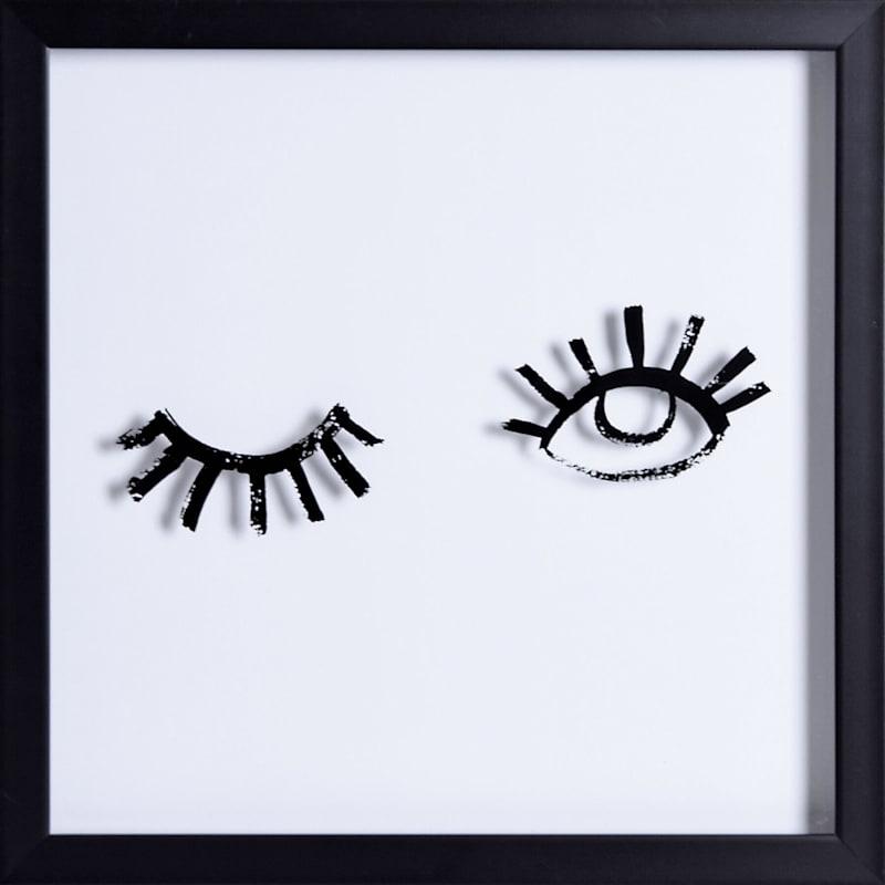 13X13 Wink Framed/Glass Art