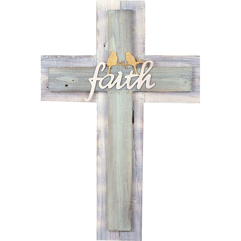 14X20 Faith Rustic Wood Cross