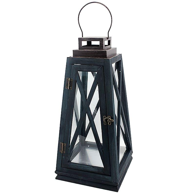 19in. Iron Wooden Lantern