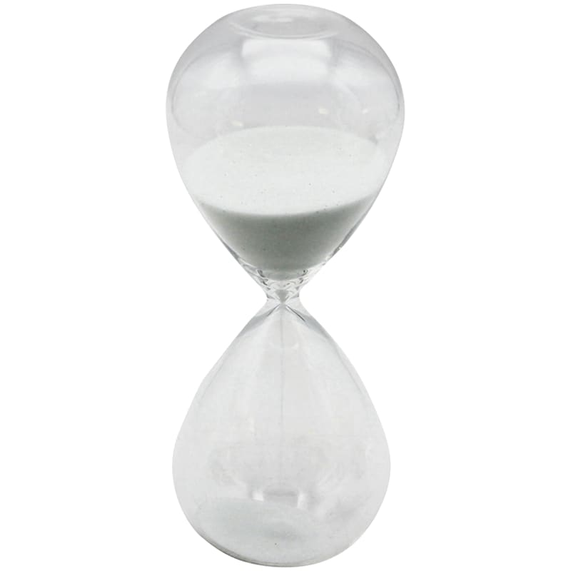 6in. Hour Glass With White Sand