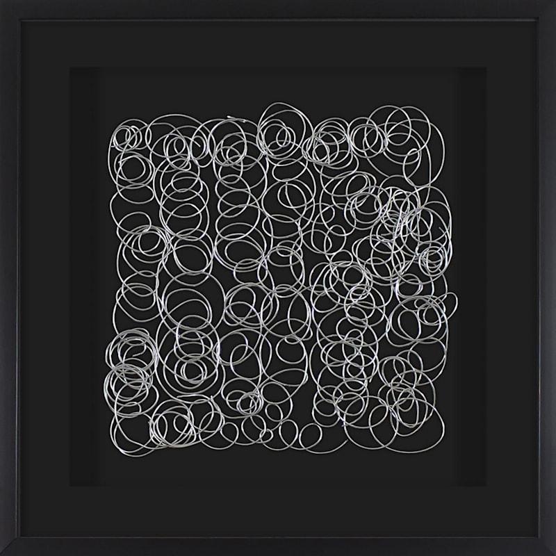 24X24 Abstract Metal Art Framed Matted Under Glass
