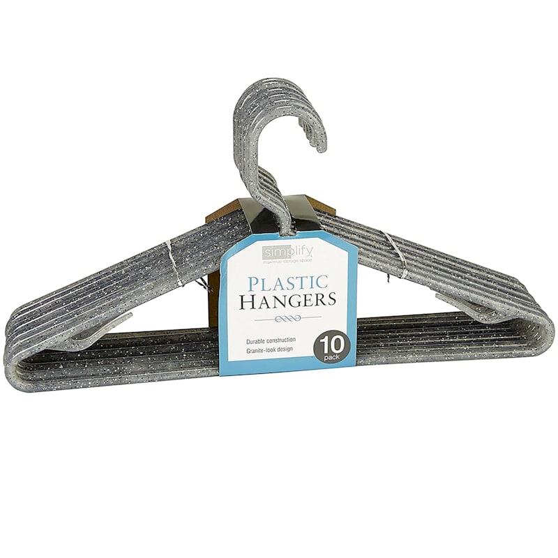 10-Pack Granite Look Plastic Hanger - Grey