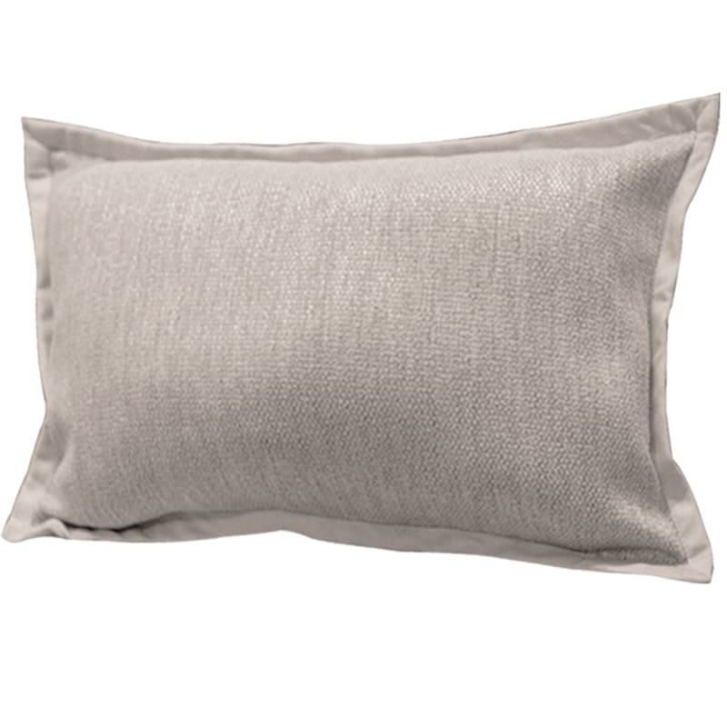 Miles Sand Jacquard Pillow With Flange 16X24