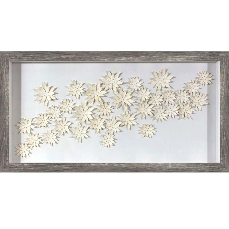 "Paper Flowers Wall Art, 12"" x 24"""