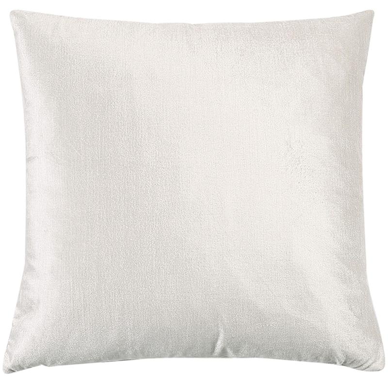 Gillmore White Velvet Decorative Pillow 18X18