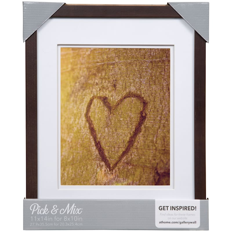Pick And Mix 11X14 Matted To 8X10 Espresso Linear Frame With White Mat