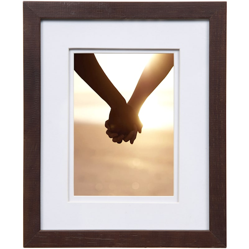 Pick And Mix 8X10 Matted To 5X7 Espresso Linear Frame With White Mat