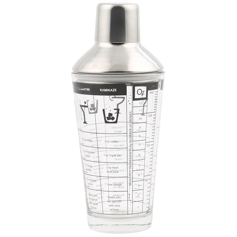 Stainless Glass Recipe Shaker