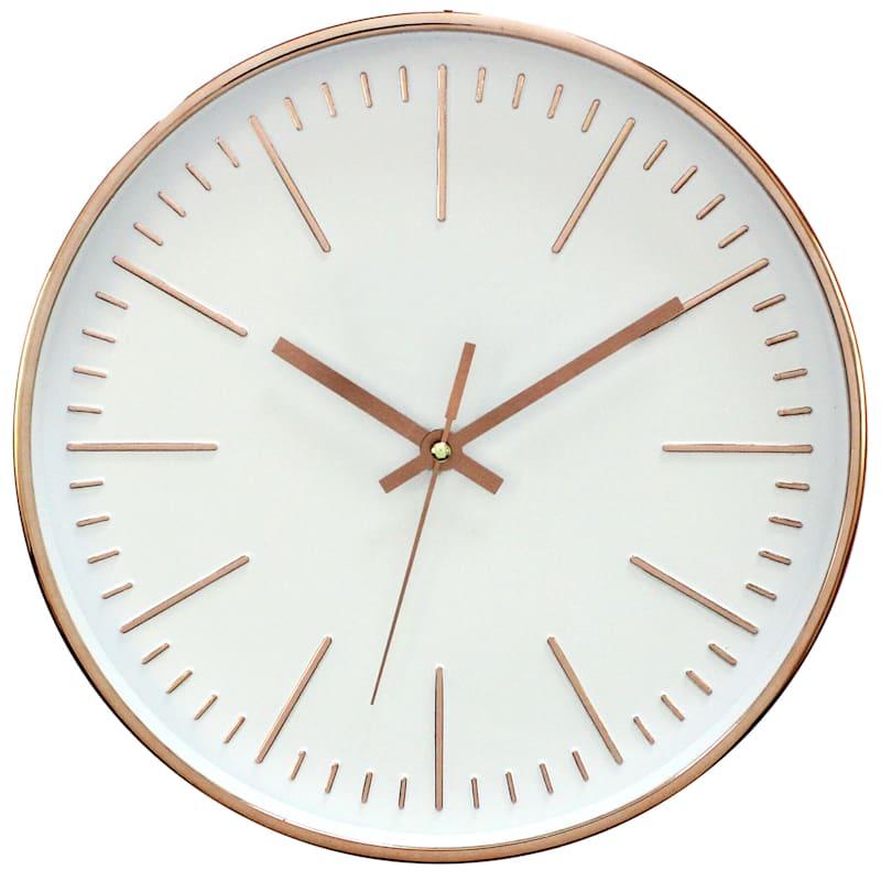 Metallic Copper Wall Clock 12-in.