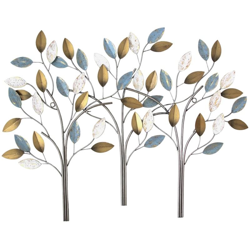 40X28 Three Stem Metal Tree Wall Decor