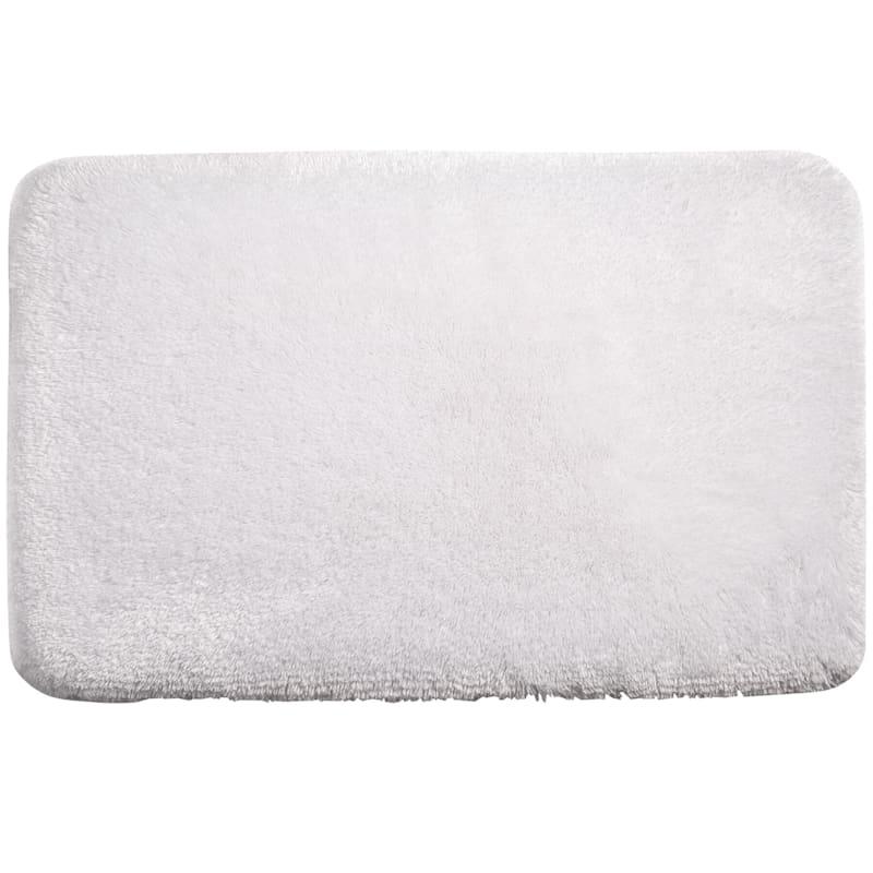 Pearl Plush Memory Foam Rug White 21X34