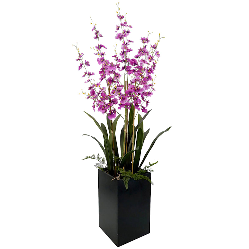47in. Orchids In Wooden Pot