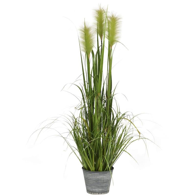 48in. H Grass In Metal Pot