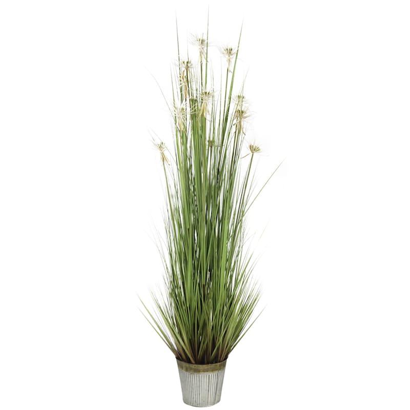 72in. Grass In Metal Pot
