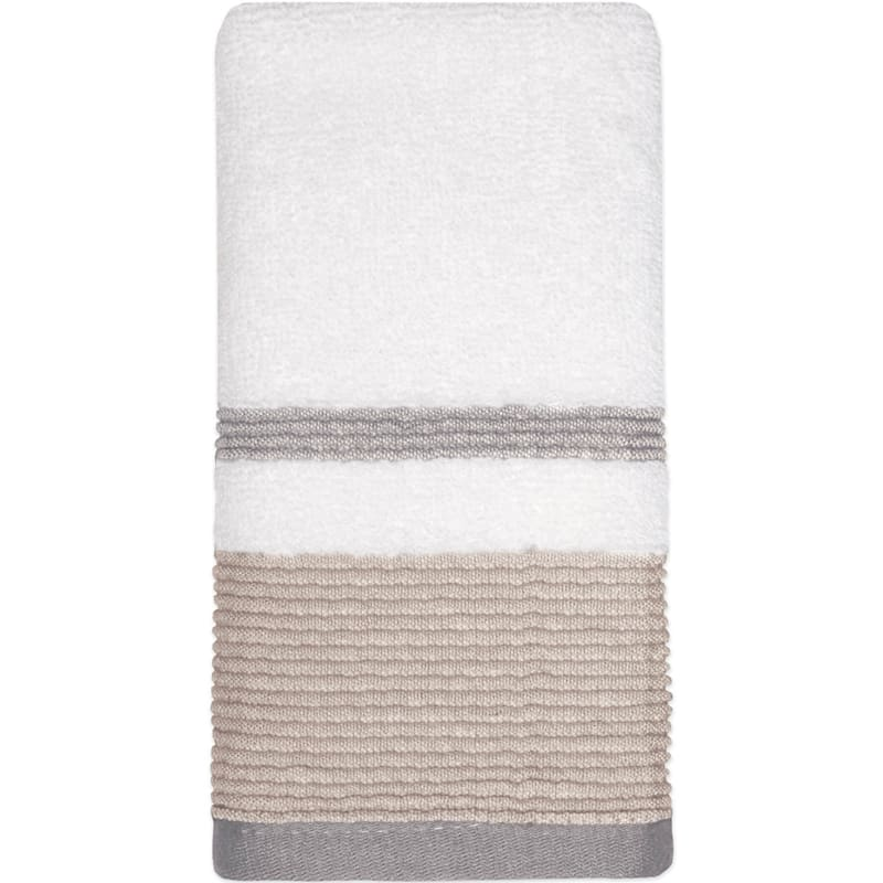 Samantha Sand/Grey Finger Tip Towel