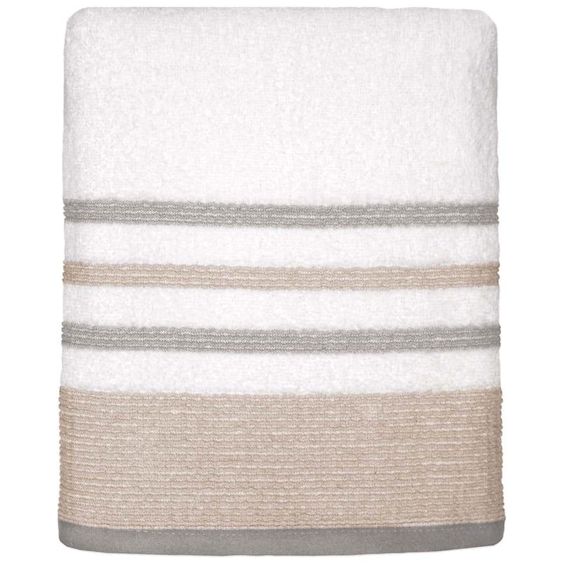Samantha Sand/Grey Bath Towel
